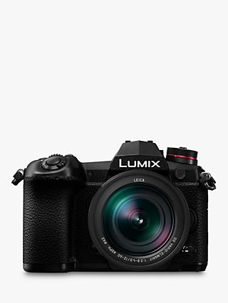 "Panasonic Lumix DC-G9 Compact System Camera with Leica 12-60mm f2.8-4.0 Power O.I.S. Lens, 4K, 20.3MP, 4x Digital Zoom, Wi-Fi, OLED Viewfinder, 3"" Vari-Angle Touch Screen, Black"