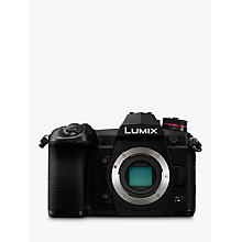 "Buy Panasonic Lumix DC-G9 Compact System Camera, 4K, 20.3MP, 4x Digital Zoom, Wi-Fi, OLED Viewfinder, 3"" Vari-Angle Touch Screen, Body Only, Black Online at johnlewis.com"