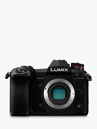 "Panasonic Lumix DC-G9 Compact System Camera, 4K, 20.3MP, 4x Digital Zoom, Wi-Fi, OLED Viewfinder, 3"" Vari-Angle Touch Screen, Body Only, Black"