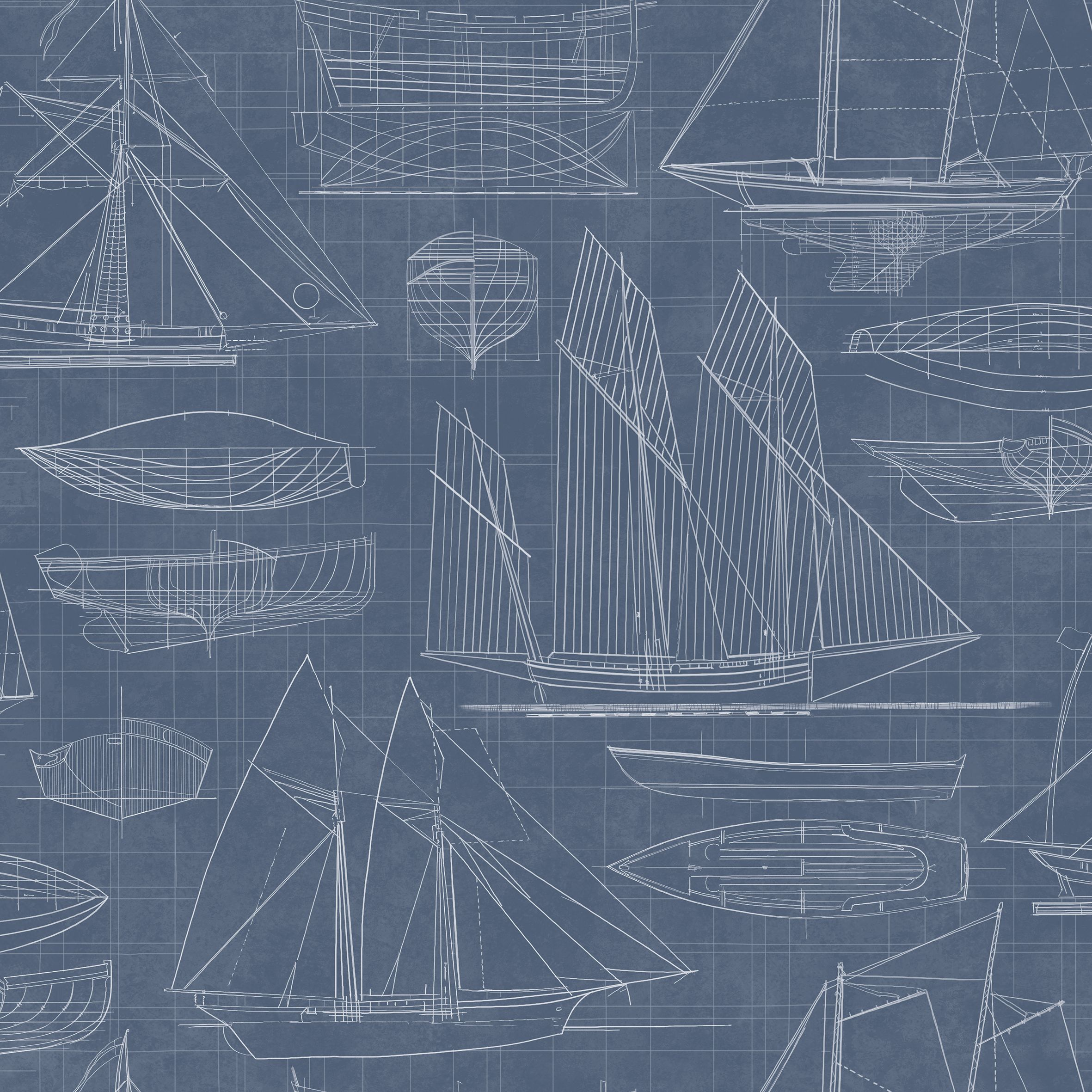 Galerie nautical blueprint wallpaper bluewater 2995 malvernweather Image collections