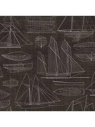 Galerie Nautical Blueprint Wallpaper