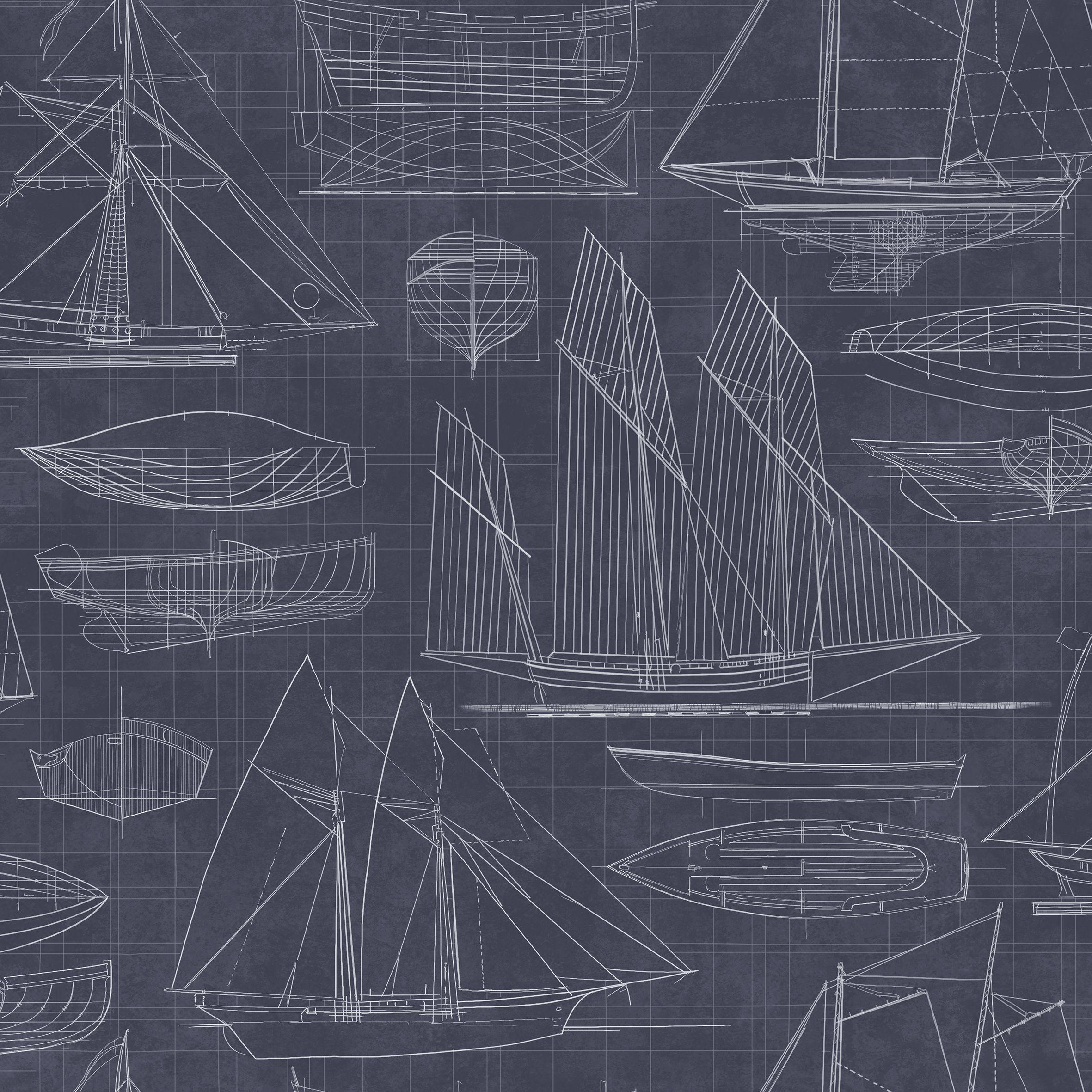 Galerie nautical blueprint wallpaper bluewater 2995 malvernweather Gallery