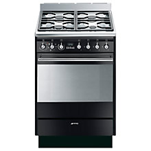 Buy Smeg SUK61MBL8 Dual Fuel Cooker, Black Online at johnlewis.com