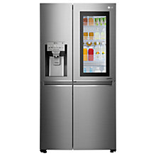 Buy LG GSX960NSAZ Insta View American Style Plumbed Fridge Freezer, A++ Energy Rating, 90cm Wide, Noble Steel Online at johnlewis.com