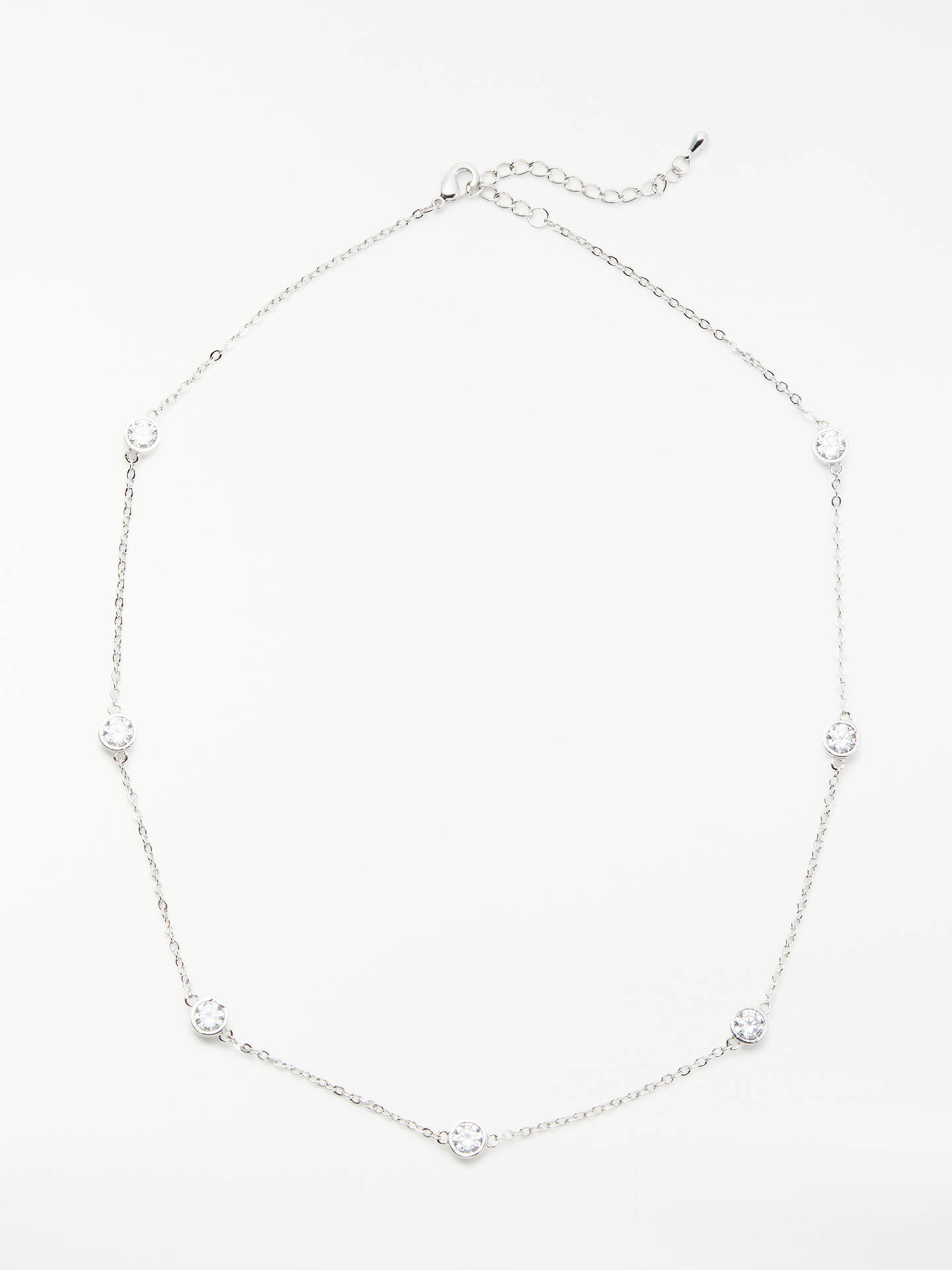 BuyJohn Lewis & Partners Illusion Necklace, Silver Online at johnlewis.com