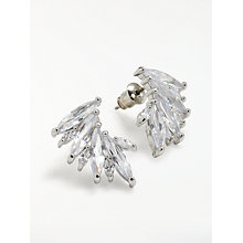 Buy John Lewis Glass Ear Cuff Earrings, Silver Online at johnlewis.com