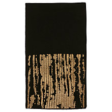 Buy Karen Millen Metallic Knitted Scarf, Black Online at johnlewis.com