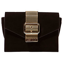 Buy Karen Millen Metal Buckle Clutch Bag, Black Online at johnlewis.com
