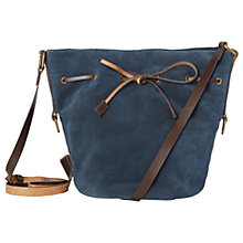 Buy White Stuff Joyce Suede Bucket Bag, Steel Blue Online at johnlewis.com