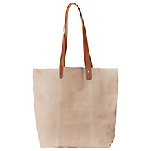 Buy White Stuff Ginny Suede Tote Bag, Natural Online at johnlewis.com