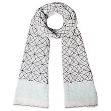 Buy White Stuff Oriental Embroidered Scarf, Cream Online at johnlewis.com