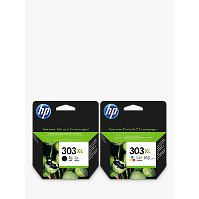 Image of HP 303 XL Ink Cartridge Black & Tri-Colour Multipack, Pack Of 2