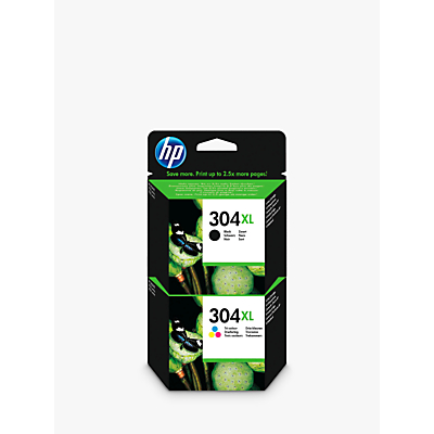 Image of HP 304 XL Ink Cartridge Black & Tri-Colour Multipack, Pack Of 2
