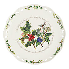 Buy Portmeirion The Holly and The Ivy Footed Cake Plate, Dia.26cm Online at johnlewis.com