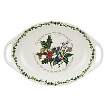 Buy Portmeirion The Holly and The Ivy Oval Platter, L45cm Online at johnlewis.com