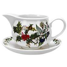Buy Portmeirion The Holly and The Ivy Gravy Boat and Stand, 600ml Online at johnlewis.com