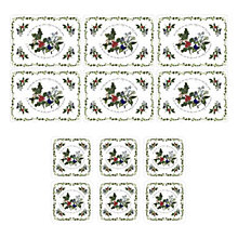 Buy Portmeirion The Holly and The Ivy Coasters and Placemats, Set of 6 Online at johnlewis.com