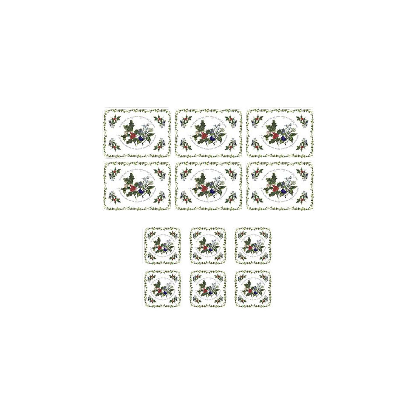 Buyportmeirion The Holly And The Ivy Coasters And Placemats, Set