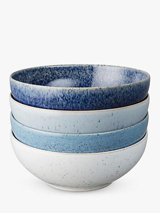 Denby Studio Blue Cereal Bowls, Chalk/Blue, Dia.17cm, Set of 4