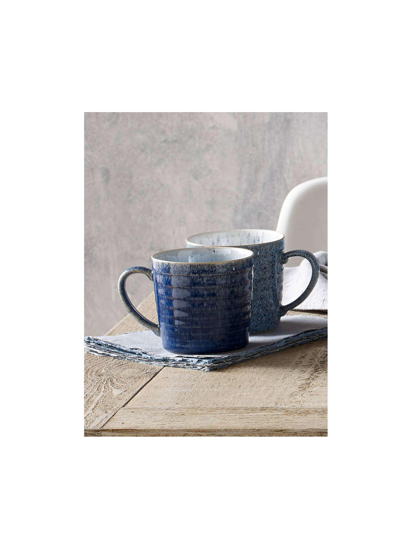 BuyDenby Studio Blue Pasta Bowls, Chalk/Blue, Dia.22cm, Set of 4 Online at johnlewis.com