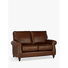 Buy John Lewis Hannah Leather Small 2 Seater Sofa, Dark Leg Online at johnlewis.com