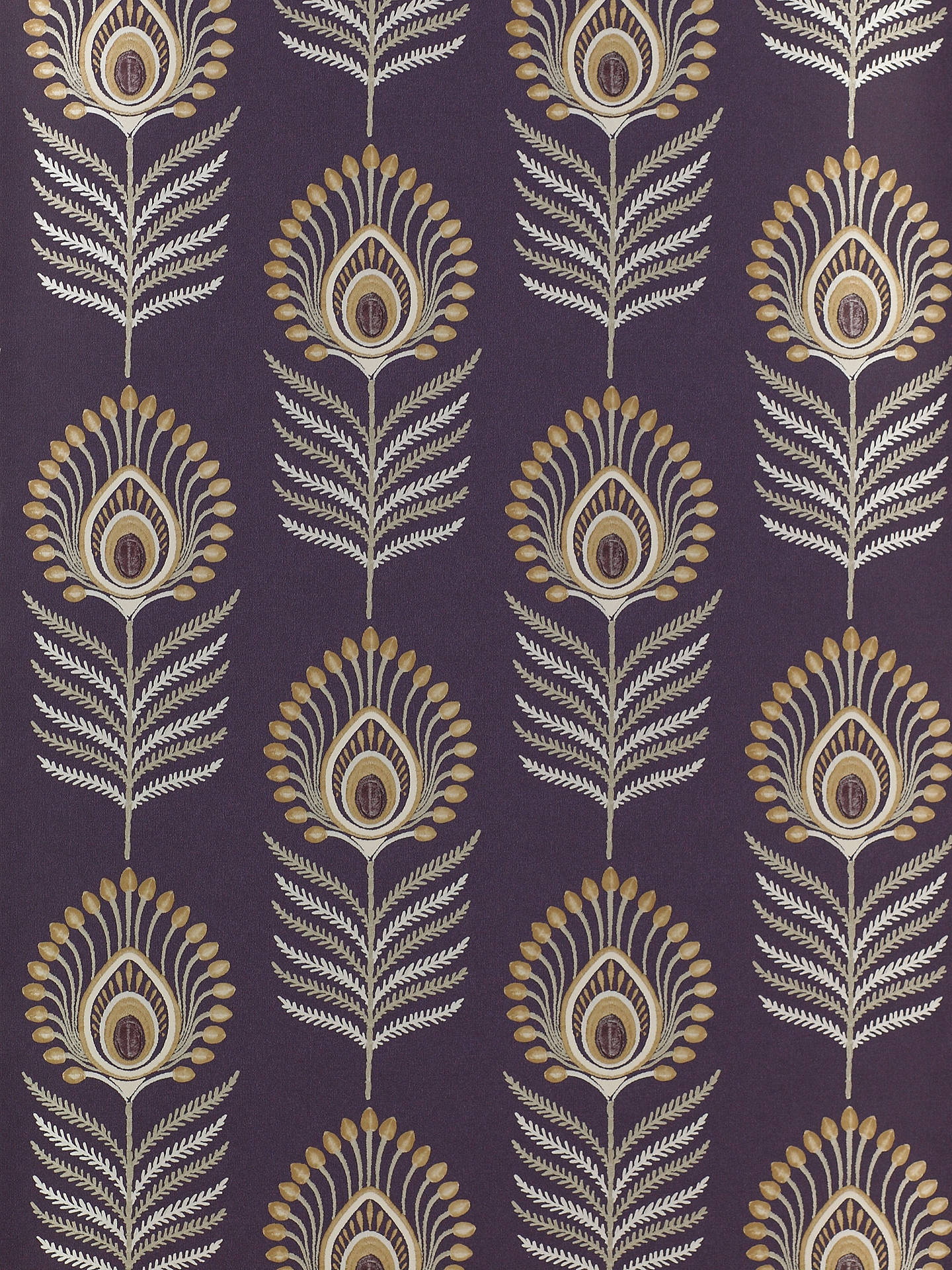 BuyJane Churchill Sula Wallpaper, Amethyst / Gold J150W-01 Online at johnlewis.com