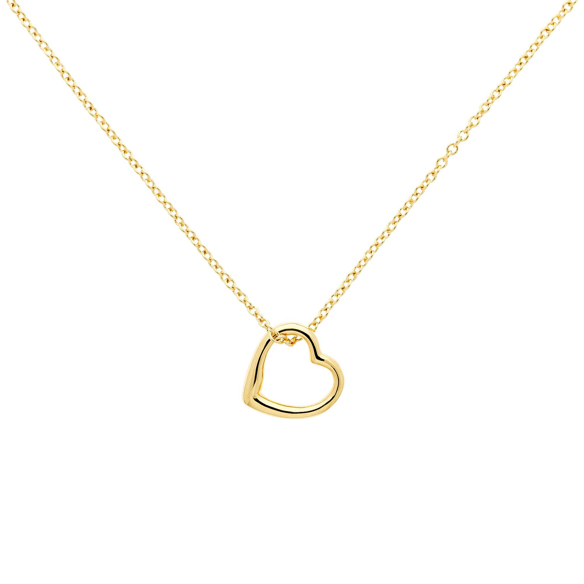 Melissa Odabash Melissa Odabash Mini Heart Pendant Necklace, Gold