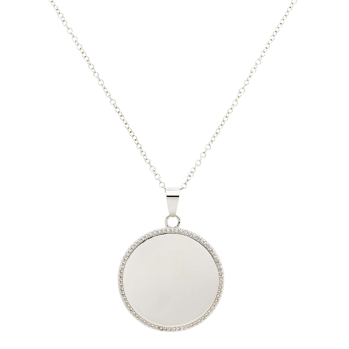 Melissa odabash crystal disc pendant necklace at john lewis buymelissa odabash crystal disc pendant necklace silver online at johnlewis aloadofball Image collections
