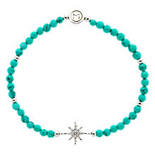 Buy Melissa Odabash Turquoise Crystal Star Stretch Bracelet, Blue/Silver Online at johnlewis.com