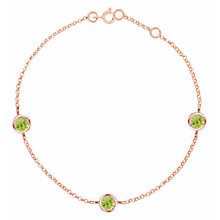 Buy London Road 9ct Rose Gold Pimlico Dew Drop Bracelet Online at johnlewis.com