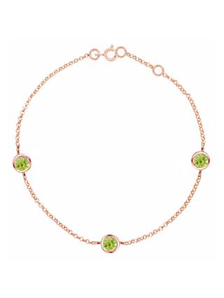 London Road 9ct Rose Gold Pimlico Dew Drop Bracelet