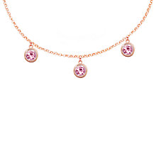 Buy London Road 9ct Rose Gold Round Drop Chain Necklace Online at johnlewis.com