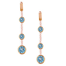 Buy London Road 9ct Rose Gold Pimlico Dew Drop Chain Earrings Online at johnlewis.com