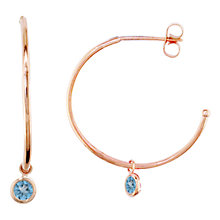 Buy London Road 9ct Rose Gold Large Pimlico Dew Drop Hoop Earrings Online at johnlewis.com