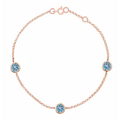London Road 9ct Rose Gold Pimlico Dew Drop Bracelet