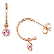 Buy London Road 9ct Rose Gold Pimlico Dew Drop Hoop Earrings Online at johnlewis.com