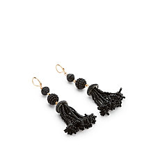 Buy John Lewis Beaded Tassel Earrings, Black Online at johnlewis.com