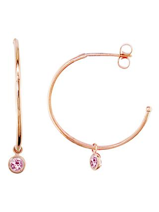 London Road 9ct Rose Gold Large Pimlico Dew Drop Hoop Earrings