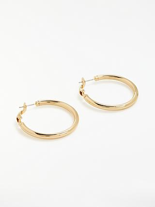 John Lewis & Partners Thick Hoop Earrings, Gold