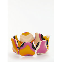 Buy One Button Abstract Bead Stretch Bracelet, Multi Online at johnlewis.com