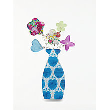 Buy One Button Vase Posy Brooch, Multi Online at johnlewis.com