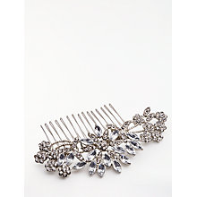 Buy John Lewis Floral Hair Comb, Silver Online at johnlewis.com