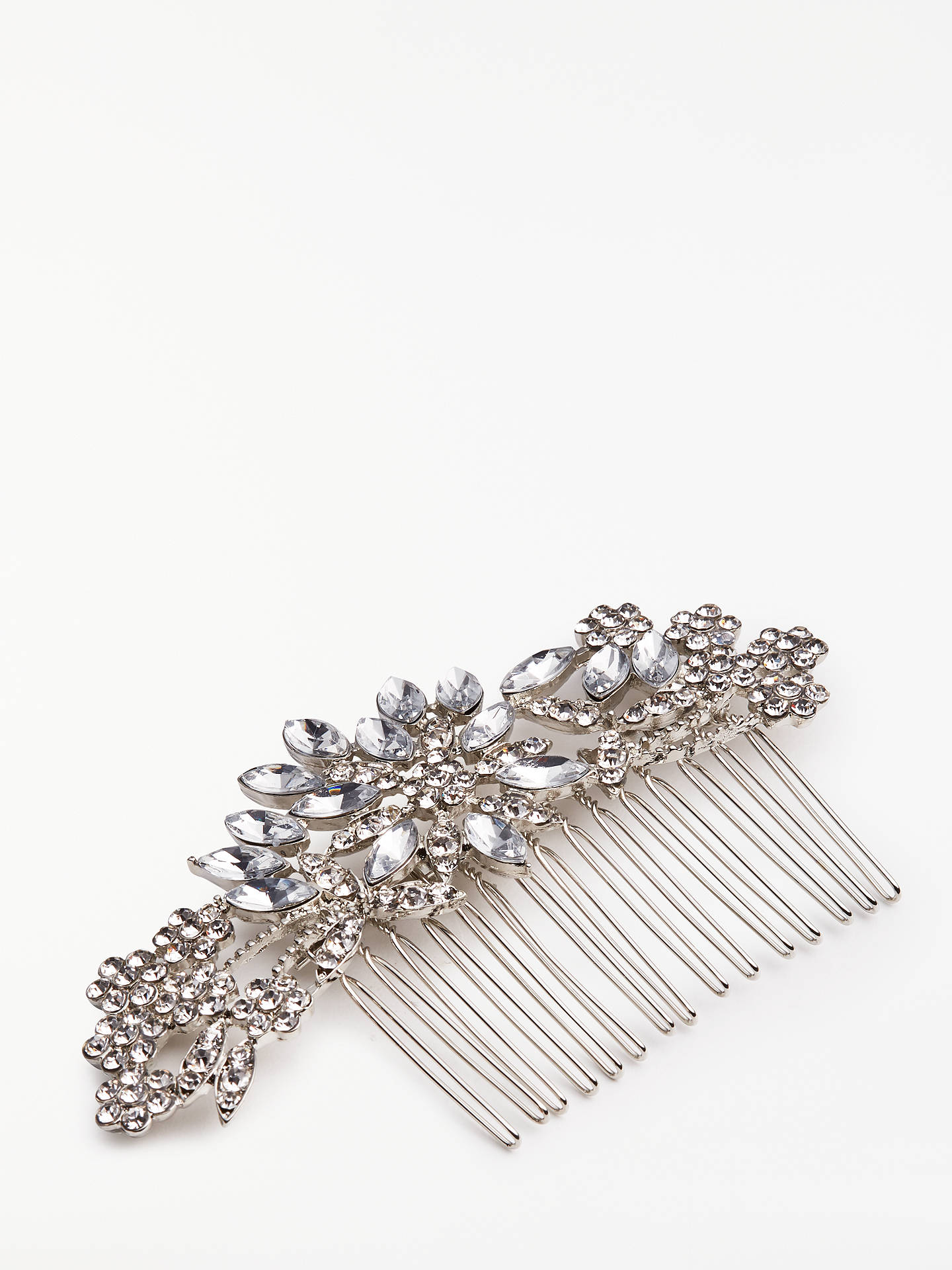 BuyJohn Lewis & Partners Floral Hair Comb, Silver Online at johnlewis.com