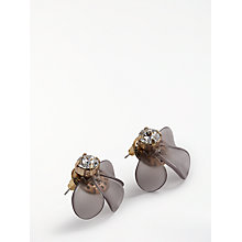 Buy John Lewis Resin Flower Stud Earrings, Grey Online at johnlewis.com