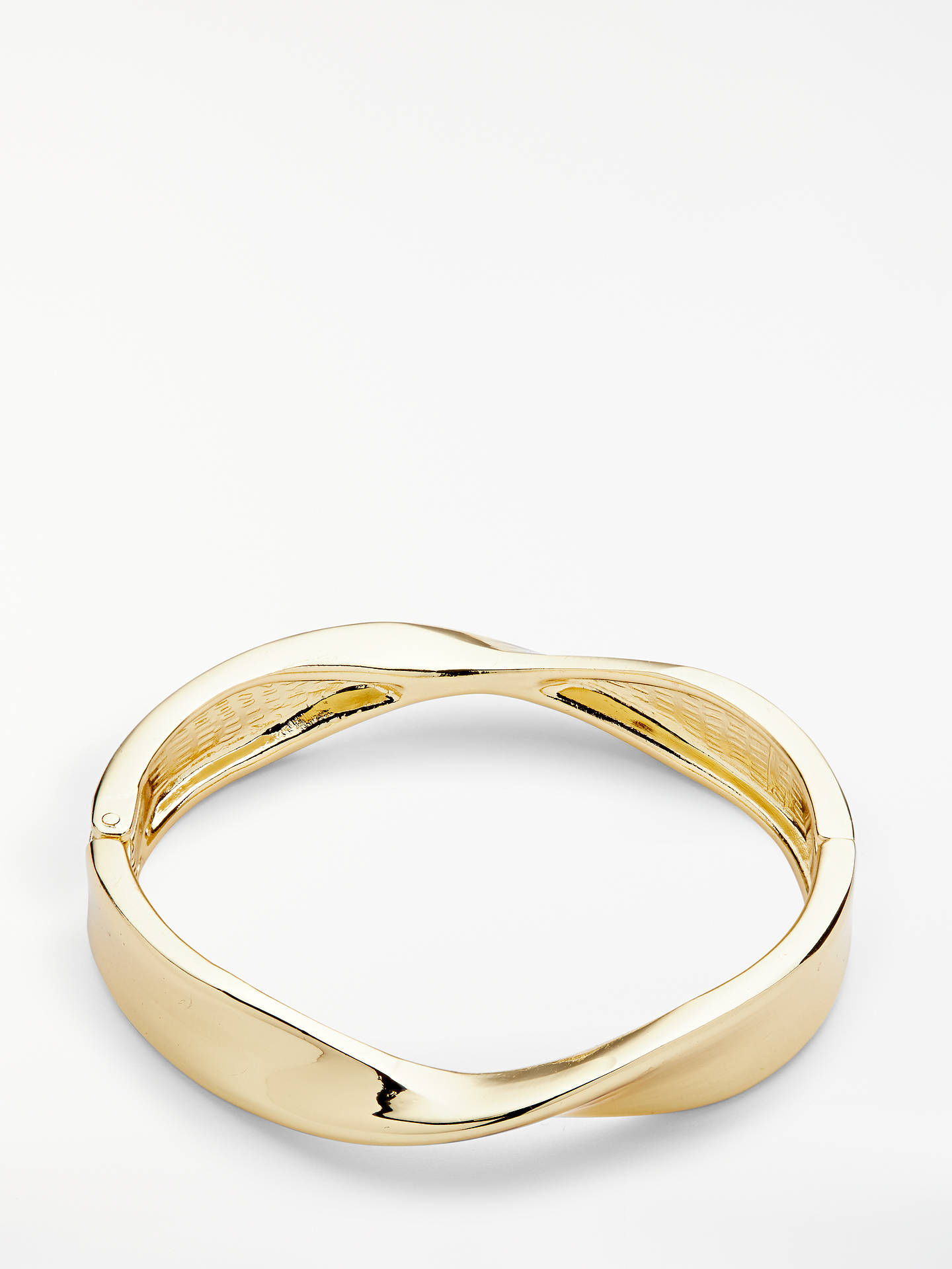 Buy John Lewis & Partners Twist Bangle, Gold Online at johnlewis.com