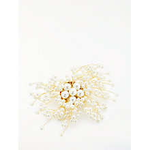 Buy John Lewis Faux Pearl Scatter Brooch, Gold Online at johnlewis.com