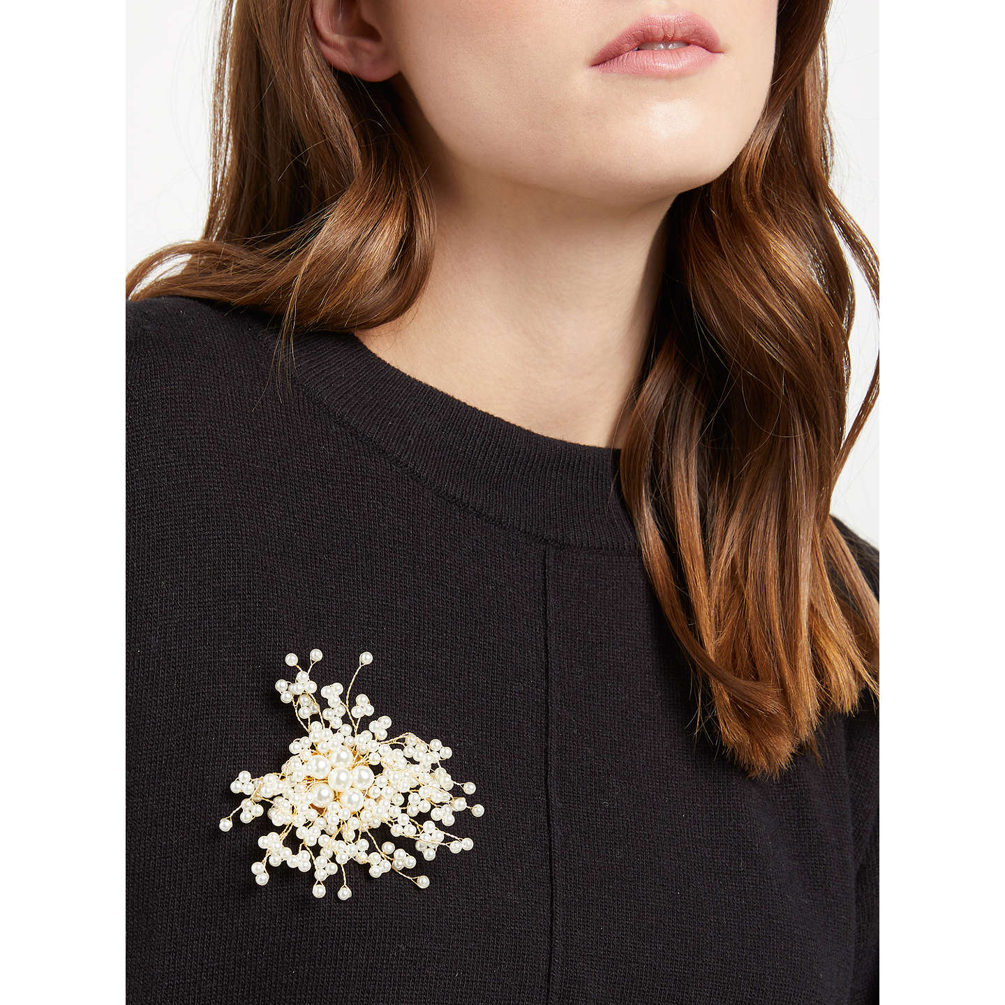 BuyJohn Lewis Faux Pearl Scatter Brooch, Gold Online at johnlewis.com