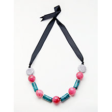 Buy John Lewis Long Bead Ribbon Statement Necklace, Multi Online at johnlewis.com