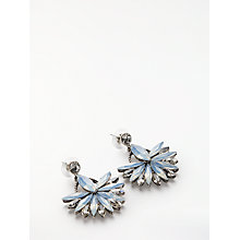 Buy John Lewis Crystal Statement Drop Earrings, Silver Online at johnlewis.com