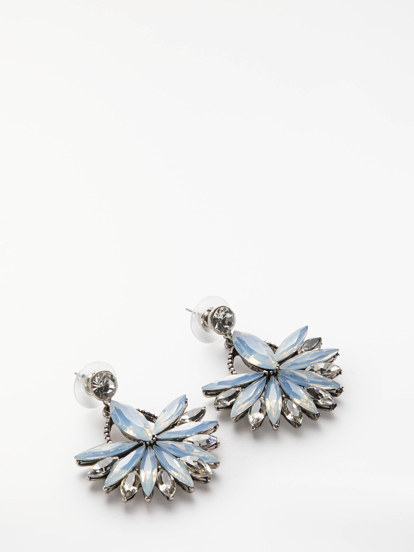 BuyJohn Lewis & Partners Crystal Statement Drop Earrings, Silver Online at johnlewis.com